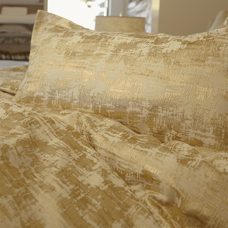 Gold Metallic Bed Del Adora High End Linen Storesdel